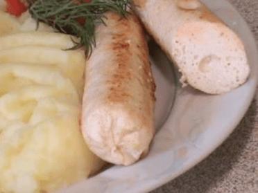 Как приготовить куриные сосиски