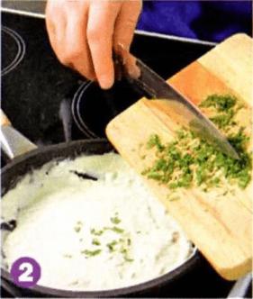 Макароны с овощами и креветками