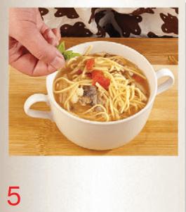 Суп-лапша с грибами и сардинами